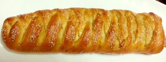 Braided chicken bread